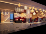 Fashion creative decoration artistic cafe 3d model